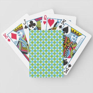 Baralho De Poker Teste padrão de bolinhas azul e verde