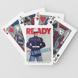 """Baralho De Poker U.S. Poster de um """"pronto"""" do vintage do Corpo do"""