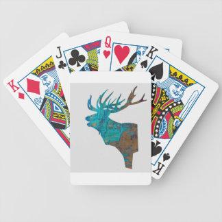 Baralho De Poker veado principal dos cervos nos turquois