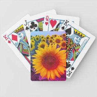 Baralho De Truco Cartões de jogo florais brilhantes dos girassóis