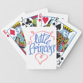 Baralho De Truco design pequeno do coração da princesa