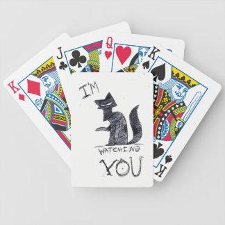 """Baralho De Truco """"Eu estou olhando-o"""" cartões engraçados do póquer"""