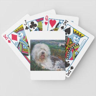 Baralho De Truco Pintura inglesa velha bonita da arte do cão do