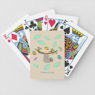 Baralho De Truco Preguiças preguiçosas do abraço - cartões de jogo