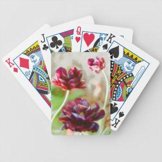 Baralho De Truco Trio de florescência da tulipa da peônia escura do