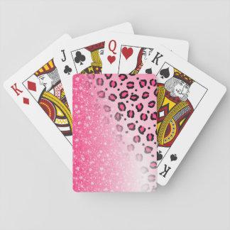 Baralho Decoração cor-de-rosa Sparkly do impressão do