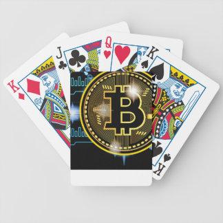 Baralho Design cripto do gráfico da moeda de Bitcoin