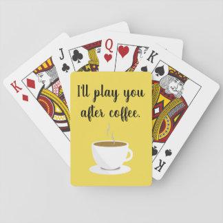 """Baralho Do """"café plataforma primeiramente"""" de cartões de"""