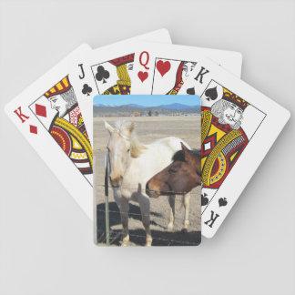 Baralho Dois cartões de jogo dos cavalos