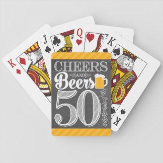 Baralho Elogios e cervejas a 50 anos de cartões de jogo