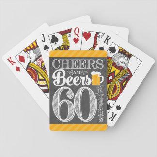 Baralho Elogios e cervejas a 60 anos de cartões de jogo