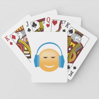 Baralho Emoji com fones de ouvido
