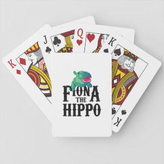 Baralho Equipe Fiona o amor Hippopotamuss do hipopótamo