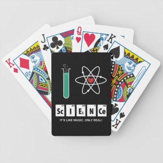 Baralho Eu amo a ciência - cartões de jogo