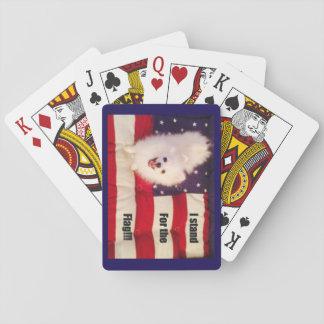 Baralho Eu represento os cartões de jogo da bandeira