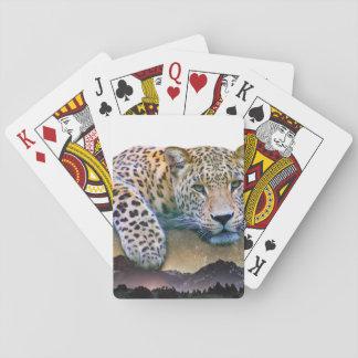 Baralho Exposição dobro do leopardo