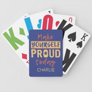 """Baralho """"Faça-se"""" cartões de jogo conhecidos feitos sob"""