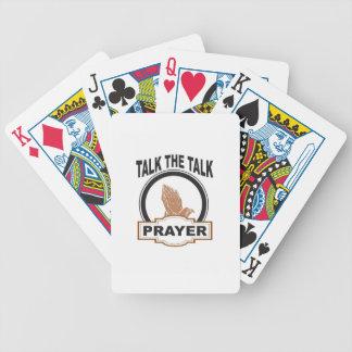 Baralho fale a oração da conversa yeah