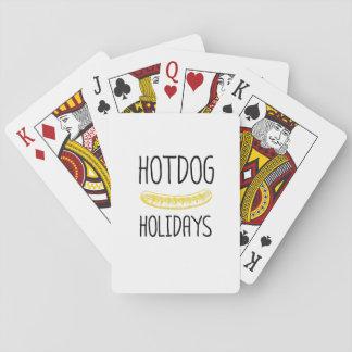 Baralho Família do partido de feriados do Hotdog engraçada