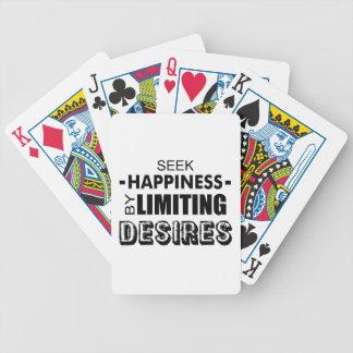 Baralho Felicidade da busca limitando desejos