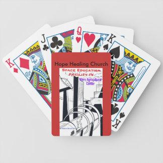 Baralho Ficção científica cristã que joga cartões do