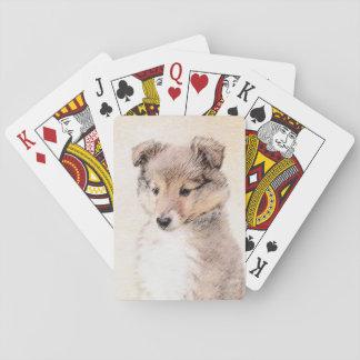 Baralho Filhote de cachorro do Sheepdog de Shetland