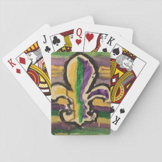 Baralho Flor de lis do carnaval dos cartões de jogo