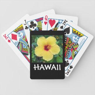 Baralho Flor do hibiscus de Havaí
