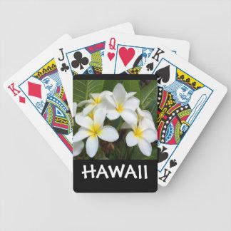 Baralho Flor do Plumeria de Havaí