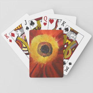 Baralho Flor que pinta cartões de jogo clássicos