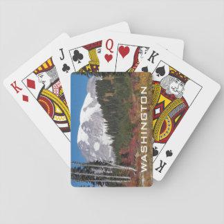 Baralho Foto de Washington o Monte Rainier