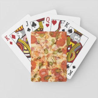 Baralho foto inteira deliciosa da pizza do jalapeno dos