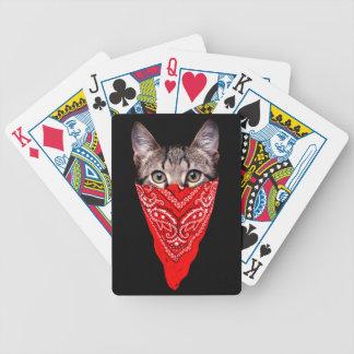 Baralho gato do gângster - gato do bandana - grupo do gato