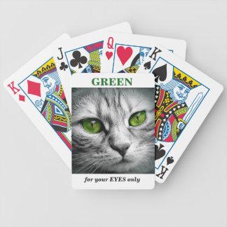 Baralho gato eyed verde