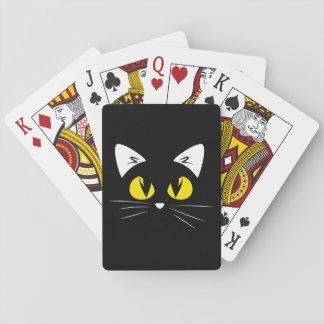 Baralho Gato preto bonito o Dia das Bruxas