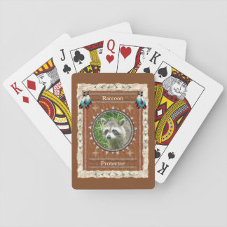 Baralho Guaxinim - cartões de jogo clássicos do protetor