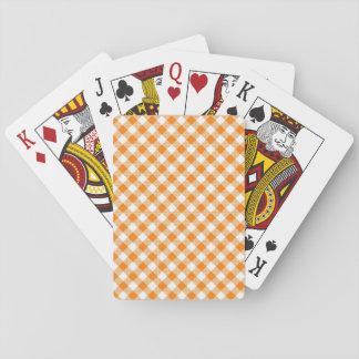 Baralho Guingão Alaranjado-Branco padrão dos cartões de