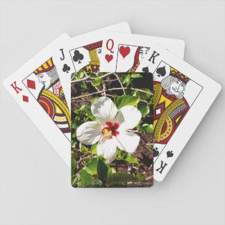 Baralho Hibiscus branco