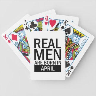 Baralho Homens reais abril