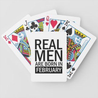 Baralho Homens reais fevereiro