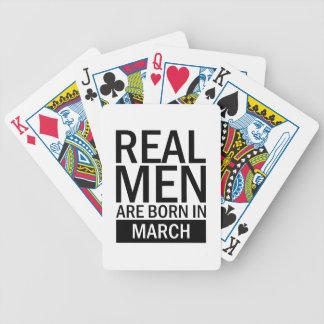 Baralho Homens reais março