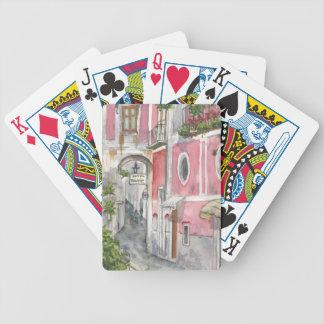 Baralho Hotel Palermo em Ravello, cartões de jogo de