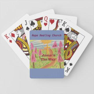 Baralho Igreja cura Jesus da esperança os cartões de jogo