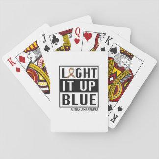 Baralho Ilumine-o acima do azul para a consciência do