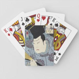 Baralho Impressão de Woodblock do japonês de Arashi Rikan