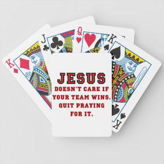 Baralho Jesus: Não um preto & um vermelho do fã de