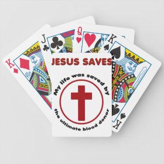 Baralho jesus salvar, camisa cristã do presente t da