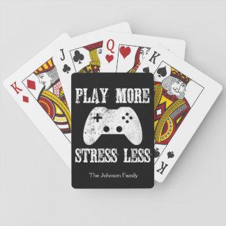 Baralho Jogue mais esforço menos jogo de vídeo