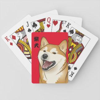 Baralho Kanji do japonês dos cartões de jogo do cão de
