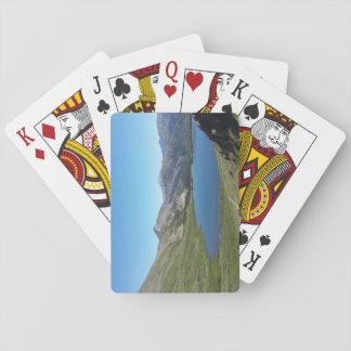 Baralho Lago nos cartões de jogo das montanhas rochosas